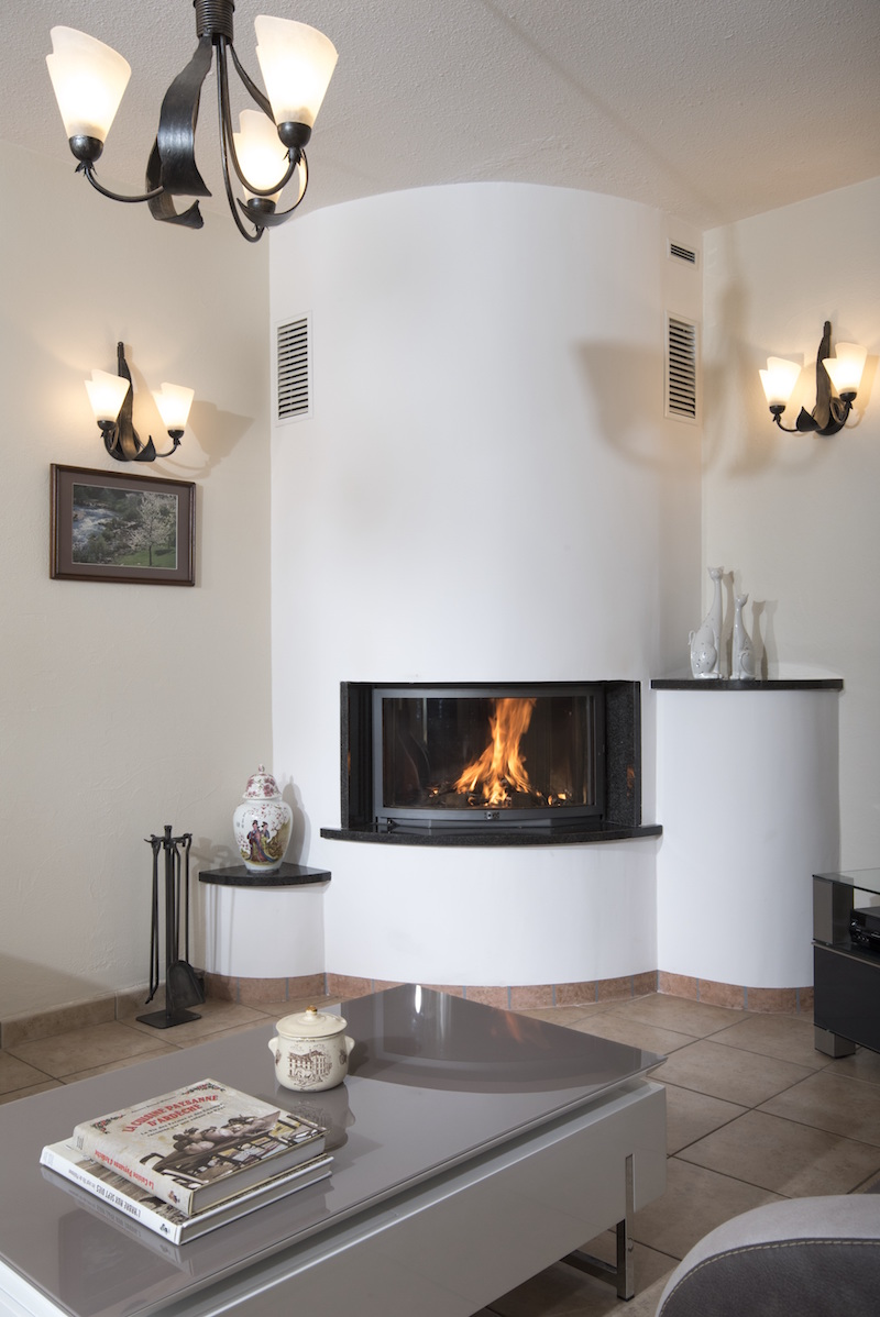 Habillage Cheminée D Angle fondis - cheminées boisaubert - création ou rénovation de